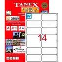 - TANEX TW 2014 ETİKET 14 LÜ