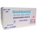 MARMARİS - MARMARİS DİSPENSER Z KAĞIT HAVLU 200*12 Lİ KOLİ