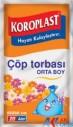 KOROZO - KOROPLAST ORTA BOY 55*60 ÇÖP TORBASI 10 LU PAKET